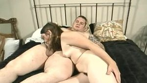 Tattoed cute chubby guy fucks girl