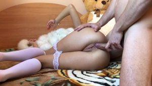 Hot quiet pussy & ASS fuck at Parents' house.HD