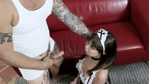 Dominated teenage maid