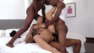 Cougar Surrounded By Black Dicks
