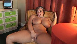 Big Titted And Curvy Mom Victoria shakes her big melons in solo scene