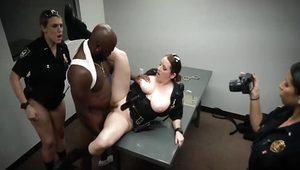 Black girl gets fucked in bathroom and white teen step dad