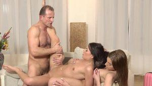 DADDY4K. Mommy guy couldn't say no to daughters of...