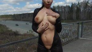 Naughty Lada wearing black outfit