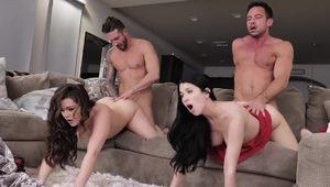 DaughterSwap - Teen Daughters Share Daddy Dick