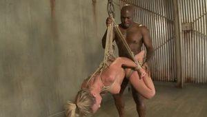 Mature slut decided to try BDSM sex with insatiable black guy