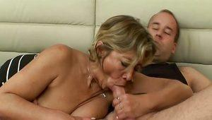 Busty Mature Blonde Fucked Hardcore With Hard Cocked Younger Stud