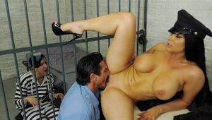 Romi Rain's Pathetic Husband is in Jail so She Fucks the Guard