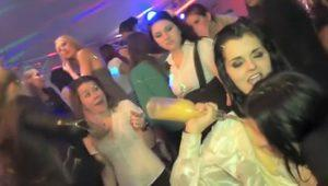 Real party sluts in group get cumshots