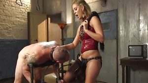Cherie Fucks Her Slave in the Ass