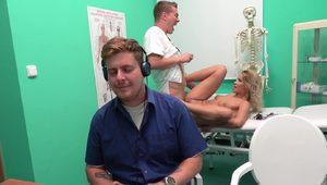Hot Serbian blonde Cherry cheating on her bf with a doctor in hospital