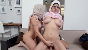 MIA KHALIFA - Featuring Big Tits MILF Julianna Vega With Cum Shot!