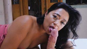 Stepsons fat cock fills up stepmoms cougar pussy