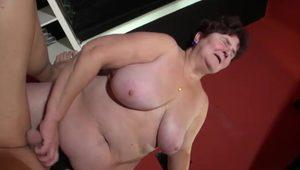 very busty fatty old MILF granny compilation