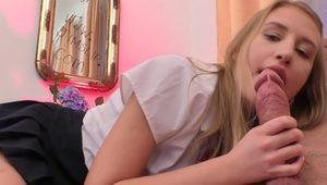 Nasty schoolgirl bent over doggy-style before sixty nine