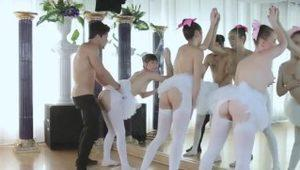 Group naked xxx Ballerinas