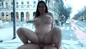 Amazing Cathy Heaven Squirts All Over our Public Sex Truck